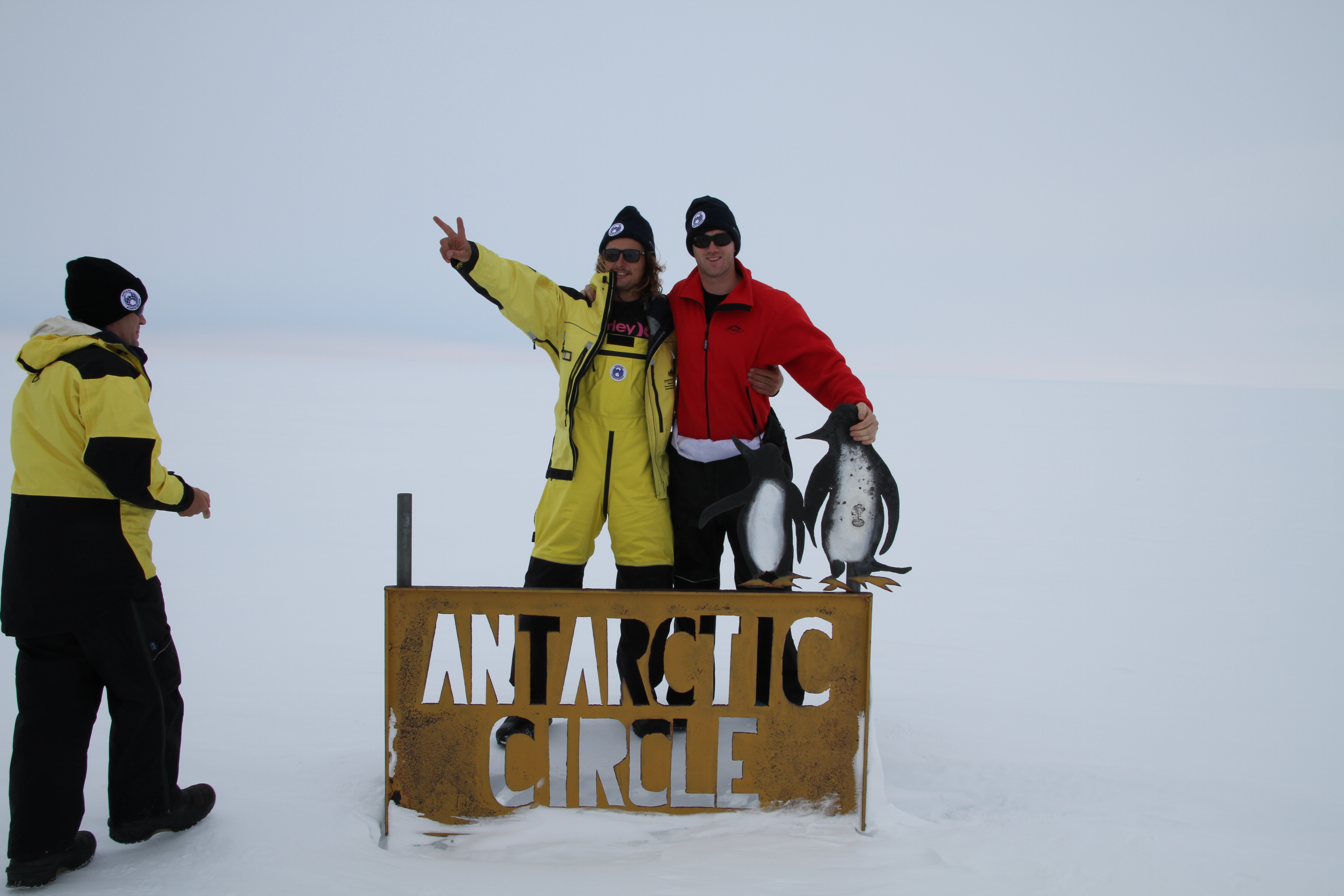 arriving at the Antarctic Circle!