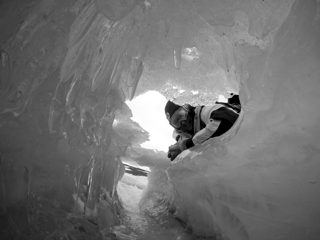 Sneaky Ice cave shot by Jay Burgers